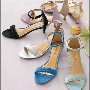 Talbots New with tag holiday silver sandals